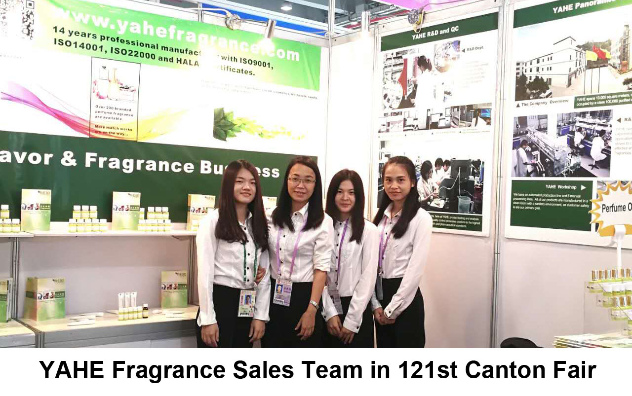 YAHE flavor sales team in Canton Fair